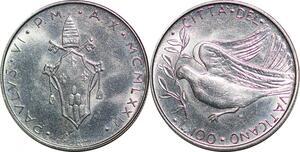 P0820 Vatican 100 Lire Paul VI Tomas Gismondi 1970 1977 FDC -> Make offer