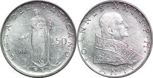 P0827 Vatican 50 Lire Jean XXIII Pietro Giampaoli 1962 FDC -> Make offer