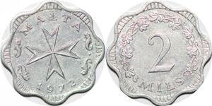 P0834 Malta 2 Mils Maltese Cross Christopher Ironside 1972 FDC -> Make offer