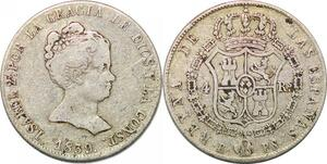 P0859 Scarce Spain 4 Reales Isabel II 1839 B-PS Barcelona Silver -> Make offer