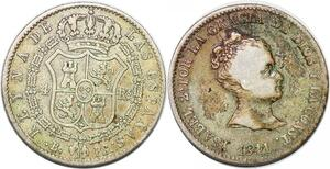 P0897 Spain 4 Reales Isabel  II 1841 B PS Silver ->Make offer