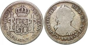 P0904 Bolivia Un Real Carlos III 1781 Mexico FF Silver -> Make offer