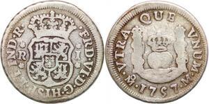 P0906 Mexico Un Real Fernando VI 1757 Mo Mexico Silver -> Make offer
