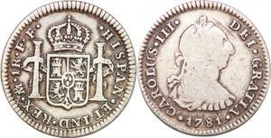 P0910 Bolivia Un Real Carlos III 1781 Mexico FF Silver -> Make offer