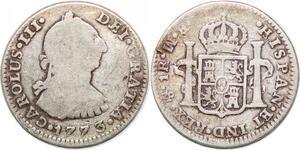 P0913 Mexico Un Real Carlos III 1773 MF (reverse) Mo Mexico silver