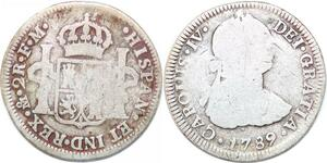 P0931 Mexico 2 Reales Carlos III 1789 FM Mexico city Silver ->Make offer