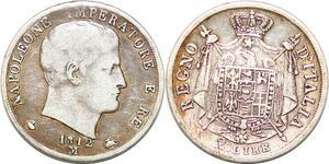 P0934 Italy 2 Lire Napoleon 1812 M Milan Silver -> Make offer