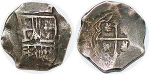 P0994 Colonial Mexico Peru Venezuela 2 Reales cob assayer V Silver ->Make offer