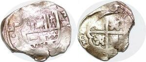 P0996 Colonial pirates Mexico Peru Venezuela 2 Reales cob Silver ->Make offer