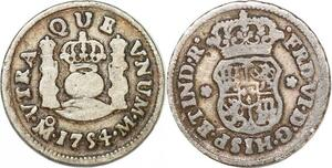 P1023 Mexico Spanish Colony 1/2 Real Ferdinand VI 1754 Silver ->M offer