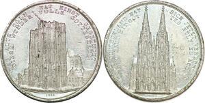 P1065 Germany Alte Köln Weiterbau des Domes Weiler 1842 AU ->Make offer