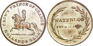 P1079 Scarce Medal Waterloo 18/06/1815 Napoléon Crown Orange Hollands Glory AU