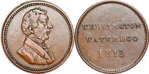 P1085 British Token Duke of Wellington Napoleon Waterloo 1815 ->Make offer