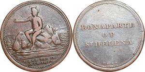 P1092 Medal Napoleon Bonaparte Op St Helena Waar Zal Ik Ont Komen ->Make offer