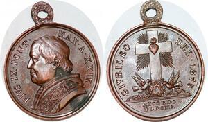 P1101 Medal Papal States Vatican Jubilé 1875 Ricordo Di Roma UNC ->Make offze