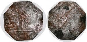 P1115 Scarce Médaille Constitution Lyon Fédération martiale 30 mai 1790