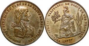P1116 Directoire Medaglia Napoleon General Buonoparte 1796 Armée Italie UNC