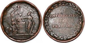 P1121 Constitution Médaille Confédération des Français François 1793 ->F offre
