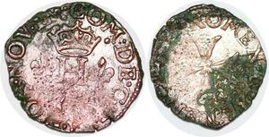 P1126 Rare Italie Comté Desana Dauphin Tizzone Liard Imitation Henri III ->M O