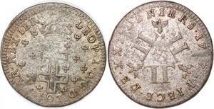 P1132 Duché de Lorraine 30 deniers Léopold 1er 1727 Nancy ->Faire offre