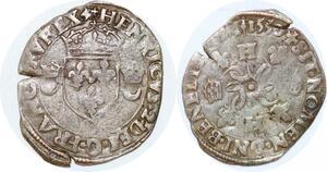 P1140 Henri II Douzain aux croissants 1550 C Saint-Lô ->Faire offre