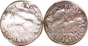 P1161 France Henri II 1547-1559 Douzain aux croissants St-Lo C 1551