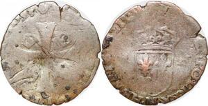 P1165 Inédit Douzain Henri IV 1593 M Pamiers Duplessy n'a jamais vu !!