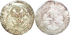 P1195 Rare Charles VIII Blanc à la couronne de Bretagne Rennes Argent ->F offre