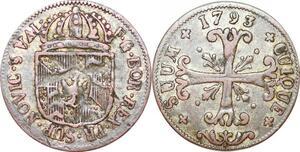 P1204 Swiss Cantons Friedrich Wilhelm II 1/2 Batzen 1793 ->Make offer