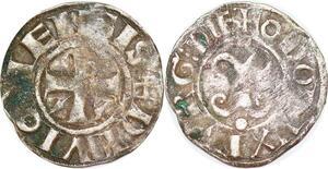P1211 Bourgogne Denier Eudes III 1193 - 1218 Odo Dux Burg Die Argent ->F offre