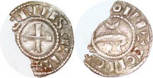 P1216 Rare Nevers comté de Gui Ier denier 1168-1175 Argent ->Faire offre
