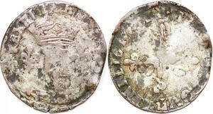 P1225 Inedit Henri III double sol parisis R Orléans Argent ->Faire offre