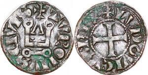 P1227 Rare Louis IX Saint Louis denier tournois ->Faire offre
