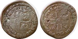 P1242 Très Rare Louis XIV quinzain huit L douzain papale states Clément VIII