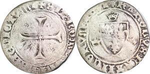P1283 Charles VII blanc à la couronne 1re émission Tours ->Faire offre