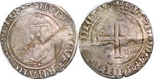 P1291 Louis XI grand blanc à la couronne Saint-Pourçain ->Faire offre