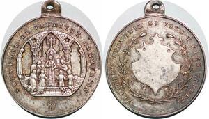 P1309 Médaille Souvenir de Première communication Notre Dame de Paris SUP