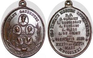 P1312 Médaille Vatican Ibant Gaudentes 1871 IHS SUP -> Faire offre