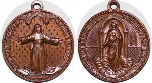 P1313 Médaille Vatican Marie Marguerite Jesus Lyon Eglises SPL ->Faire offre