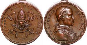 P1315 Médaille Vatican Léon XII Galvano Montagny Année Sainte Jubilé 1826 UNC