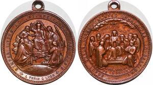 P1317 Medal Vatican Semper Vivens Interpellandum Unanimiter Oratione UNC SPL