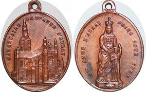 P1319 Médaille Sainte Mère Anne d'Auray Priez pour nous Sanctuaire SUP