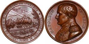 P1337 Rare Médaille Napoléon I 1821 Tomb St. Helena Retour des cendres Bovy SPL