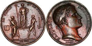 P1341 Médaille Napoleon Sacre Napoleon An XIII 1804 Paris Andrieu ->Faire offre
