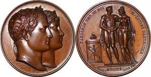 P1343 Rare Médaille mariage Napoléon Marie-Louise Autriche 1810 Andrieu FDC