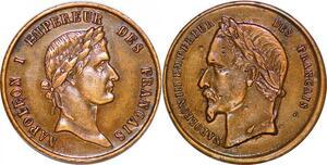 P1353 Jeton Napoleon I & III Empereur des Français SPL ->Faire offre