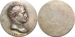 P1355 Rare Médaille Epreuve Uniface Napoléon I er Barre Argent Silver SPL ->F O