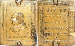 P1363 Rare Plaque Louis XVIII Paix et Commerce C'est Notre désir SUP ->F offre