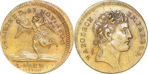 P1365 Jeton Napoléon Empereur 23 Novembre 1804 Lauer décentré SUP ->F offre