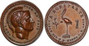 P1368 Inedit !! Piefort Napoléon Bonaparte quinaire grue Paix 1803 SPL